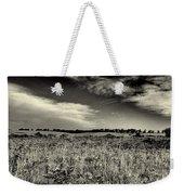 Nebraska Prairie Two In Black And White Weekender Tote Bag