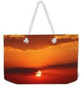 Nebraska Sunrise Weekender Tote Bag
