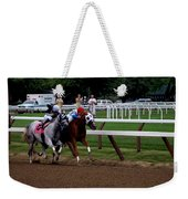Neck And Neck At Saratoga Two Weekender Tote Bag