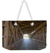 Neet Covered Bridge Interior Weekender Tote Bag