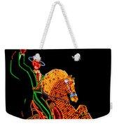 Neon Cowboy Las Vegas Weekender Tote Bag by Garry Gay