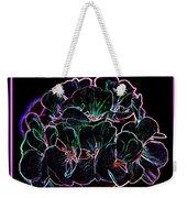 Neon Flowers Weekender Tote Bag