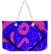Neon Out Of Bounds Weekender Tote Bag by Carolyn Marshall