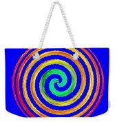 Neon Spiral Blue Weekender Tote Bag