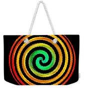 Neon Spiral Weekender Tote Bag