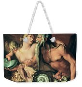 Neptune And Amphitrite Weekender Tote Bag by Jacob II de Gheyn