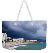 Nerja Beach On Costa Del Sol In Spain Weekender Tote Bag