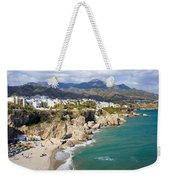Nerja Town On Costa Del Sol In Spain Weekender Tote Bag