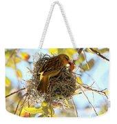 Nesting Instinct Weekender Tote Bag by Carol Groenen