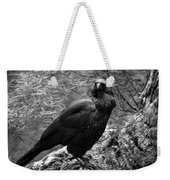 Nevermore - Black And White Weekender Tote Bag