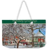 New England Christmas Weekender Tote Bag by Joann Vitali