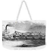 New Jersey: Train Wreck Weekender Tote Bag