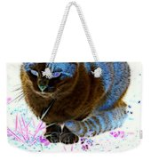New Kitty Blue Weekender Tote Bag