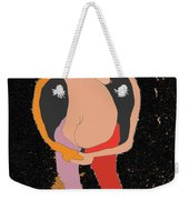 New Mexico Moon 6 In Starry Sky Weekender Tote Bag