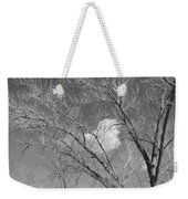 New Mexico Series - A Cloud Behind Black And White Weekender Tote Bag