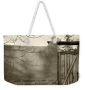 New Mexico Series - Doorway II Black And White Weekender Tote Bag