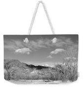 New Mexico Series - Winter Desert Beauty Black And White Weekender Tote Bag