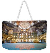 New Mosque Interior In Istanbul Weekender Tote Bag