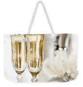 New Year Champagne Weekender Tote Bag
