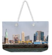 New York And The Barge Weekender Tote Bag
