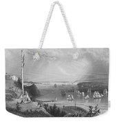 New York Bay, 1838 Weekender Tote Bag