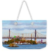 New York Bridge Water View Weekender Tote Bag