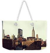 New York City Rooftops And The Empire State Building Weekender Tote Bag