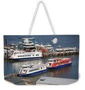 New York City Sightseeing Boats Weekender Tote Bag