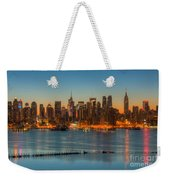 New York City Skyline Morning Twilight IIi Weekender Tote Bag