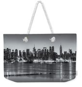 New York City Skyline Morning Twilight Iv Weekender Tote Bag