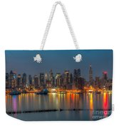 New York City Skyline Morning Twilight Xi Weekender Tote Bag