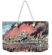 New York Crystal Palace Fire, 1858 Weekender Tote Bag by Photo Researchers