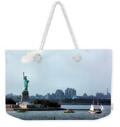 New York Harbor Weekender Tote Bag