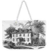 New York Mansion, 1748 Weekender Tote Bag