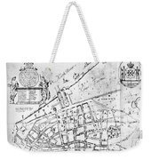 New York Map, 1730 Weekender Tote Bag