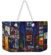 New York Nights Weekender Tote Bag