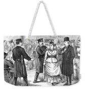 New York Police Raid, 1875 Weekender Tote Bag
