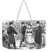 New York Police Raid, 1875 Weekender Tote Bag