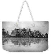 New York Skyline Reflected Weekender Tote Bag