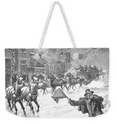 New York: Snowstorm, 1887 Weekender Tote Bag