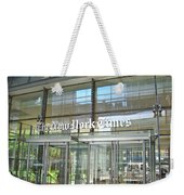 New York Times Reflection Weekender Tote Bag