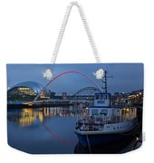 Newcastle Quayside At Night Weekender Tote Bag