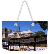 Newstand Next To Notre Dame Weekender Tote Bag