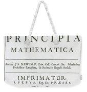 Newtons Principia, Title Page Weekender Tote Bag