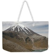 Ngauruhoe Cone And Upper Tama Lake Weekender Tote Bag