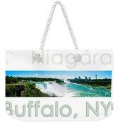 Niagara Falls Day Panorama Weekender Tote Bag