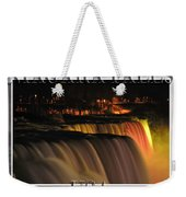 Niagara Falls Usa Triptych Series With Text Weekender Tote Bag