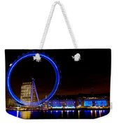 Night Image Of The London Eye And River Thames Weekender Tote Bag