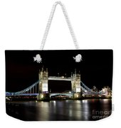 Night Image Of The River Thames And Tower Bridge Weekender Tote Bag
