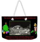 Night Of Christmas Weekender Tote Bag